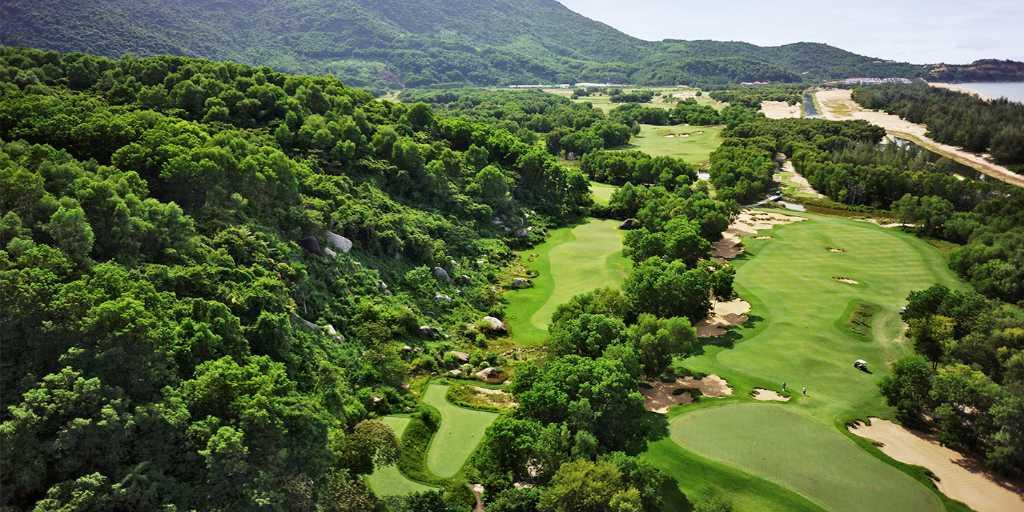 Aerial View of Hole 7, Laguna Lang Co GC
