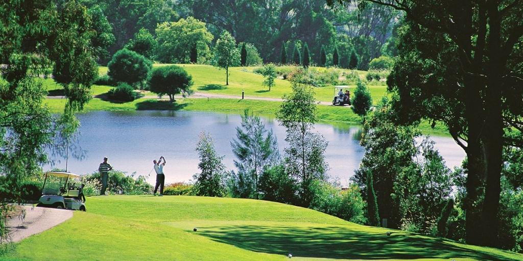 Cypress Lakes GC boasts stunning panoramic views of Hunter Valley's famous vineyards
