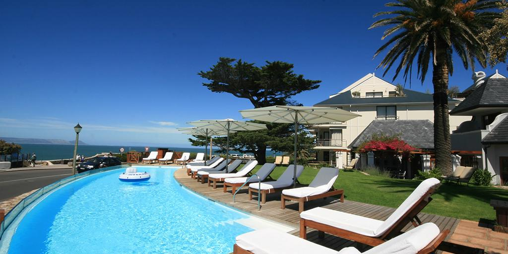 The magnificent 18 x 4 metre infinity pool is the crowning glory of the hotel