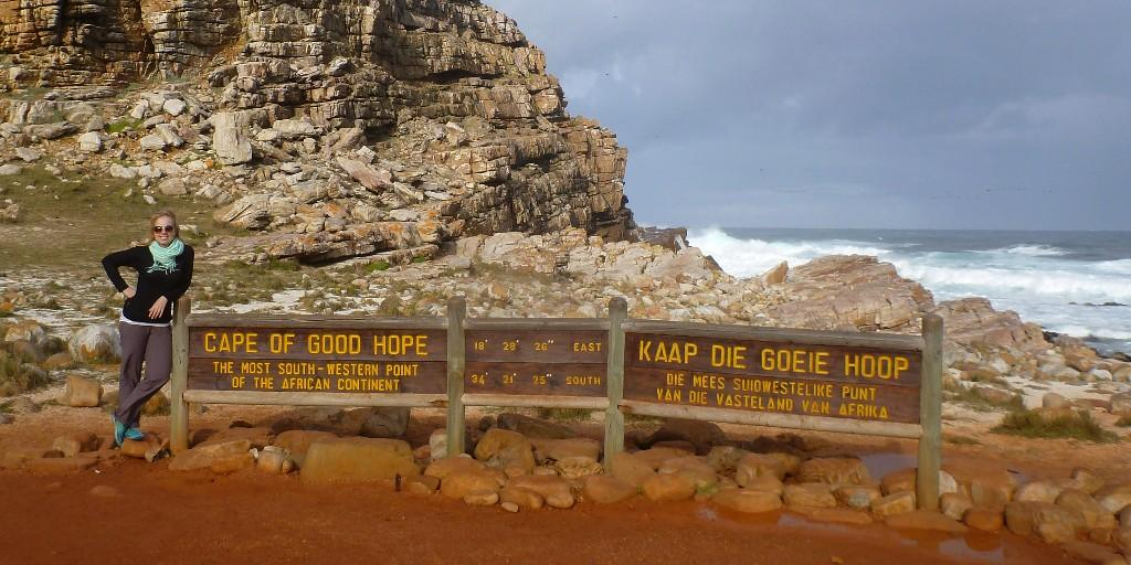 The Cape of Good Hope is the most South-Western tip of Africa