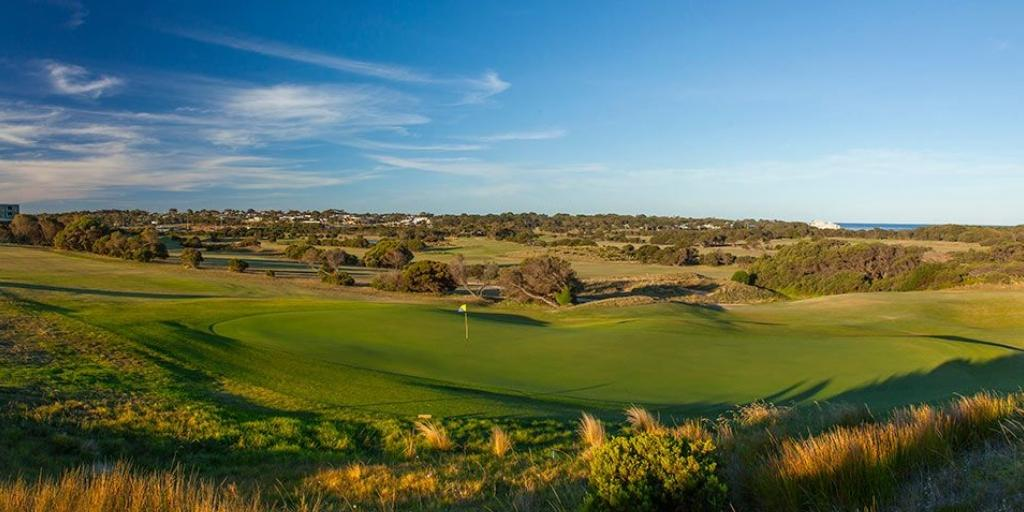 The fully irrigated course features wide-open couch fairways and undulating greens