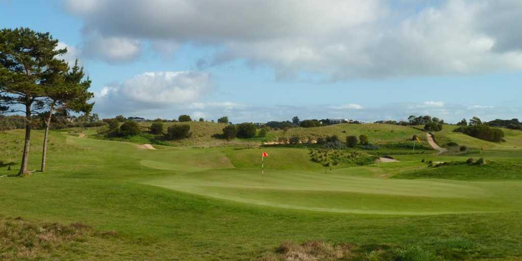 Looking back from 9th green, Moonah Links Open Course