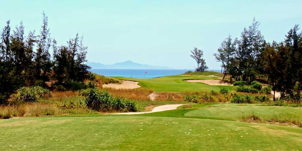 The par-3, hole 16 at Danang GC