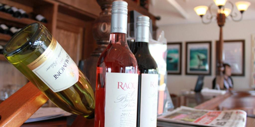 The bar at Harbour House stocks award winning wines from the Overberg region