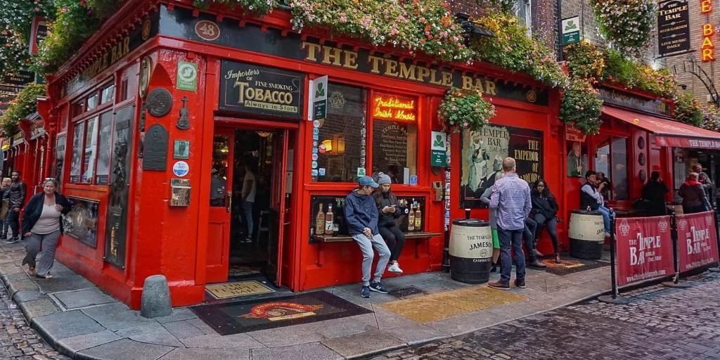 Visit the famous Temple Bar in Dublin